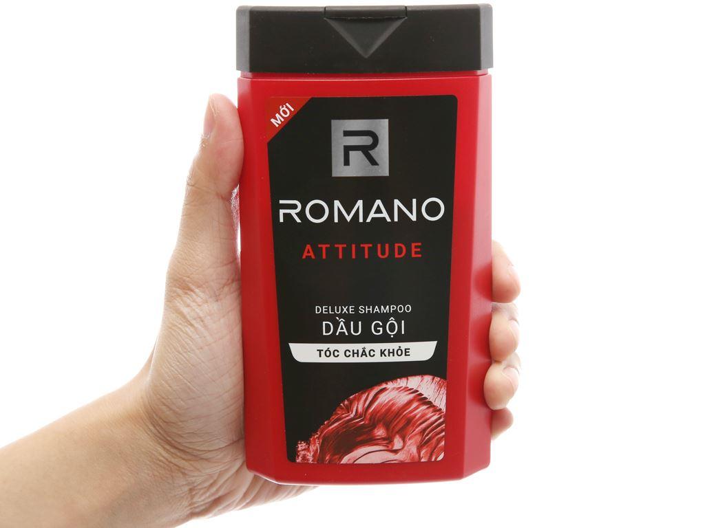 Dầu gội hương nước hoa Romano Attitude tóc chắc khoẻ 180g 4