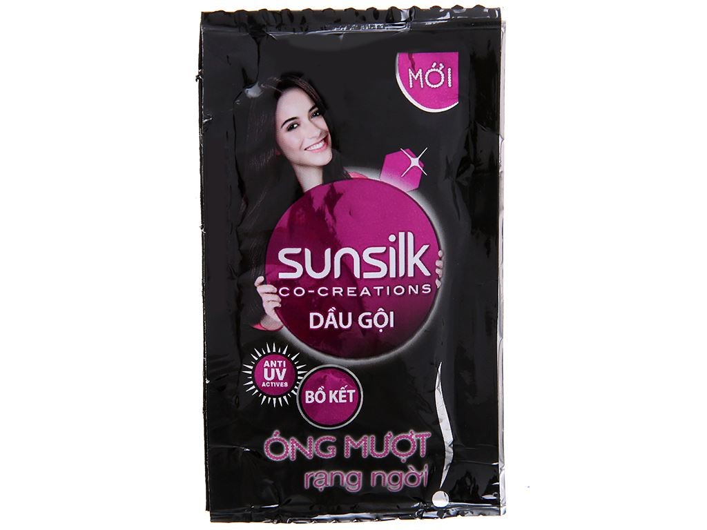 Dầu gội Sunsilk óng mượt rạng ngời 5.8ml x 12 gói 2