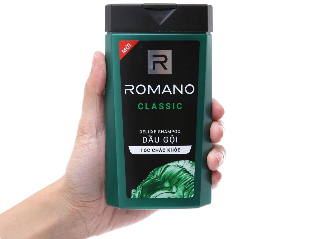 Dầu gội Romano Classic hương nước hoa 180g 4