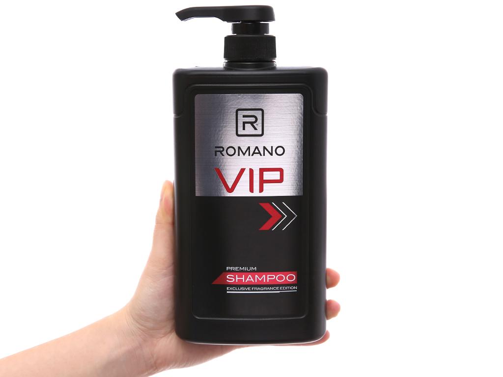 Dầu gội nước hoa cao cấp Romano VIP 650g 4