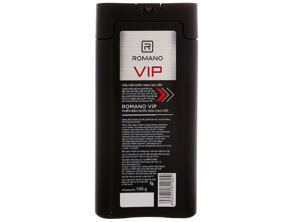 Dầu gội nước hoa cao cấp Romano VIP 180g 2