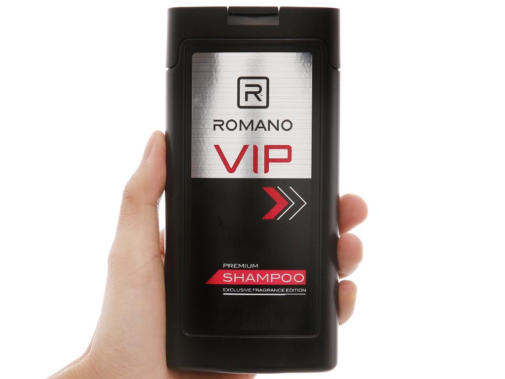 Dầu gội nước hoa cao cấp Romano VIP 180g 3