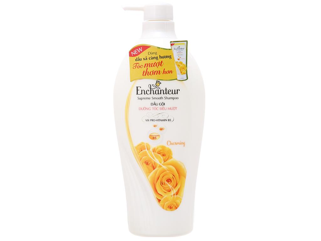 Dầu gội Enchanteur Charming dưỡng tóc siêu mượt hương nước hoa Pháp 650g 2