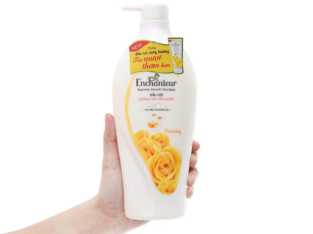 Dầu gội Enchanteur Charming dưỡng tóc siêu mượt hương nước hoa Pháp 650g 4