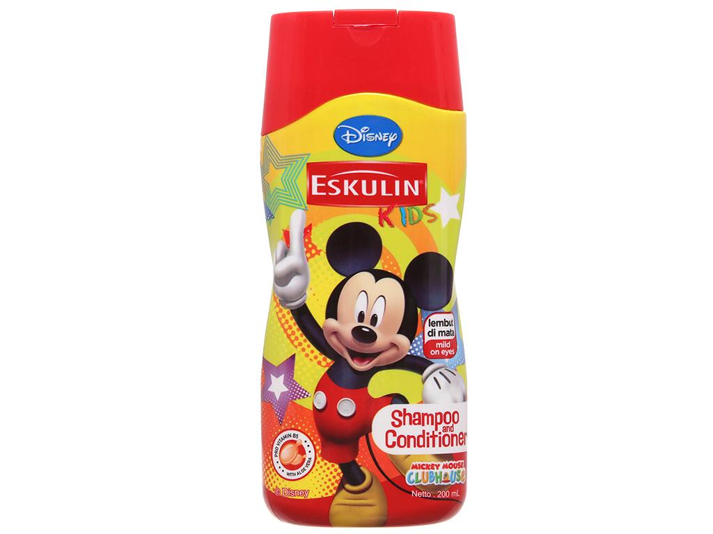 Dầu gội xả cho bé Eskulin Mickey mềm mượt 200ml (bỏ) 2