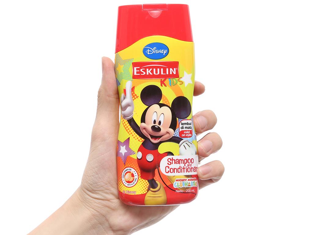 Dầu gội xả cho bé Eskulin Mickey mềm mượt 200ml (bỏ) 4
