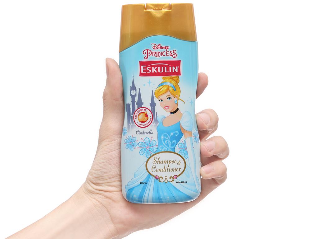Dầu gội xả cho bé Eskulin Cinderella mềm mượt 200ml (bỏ) 4