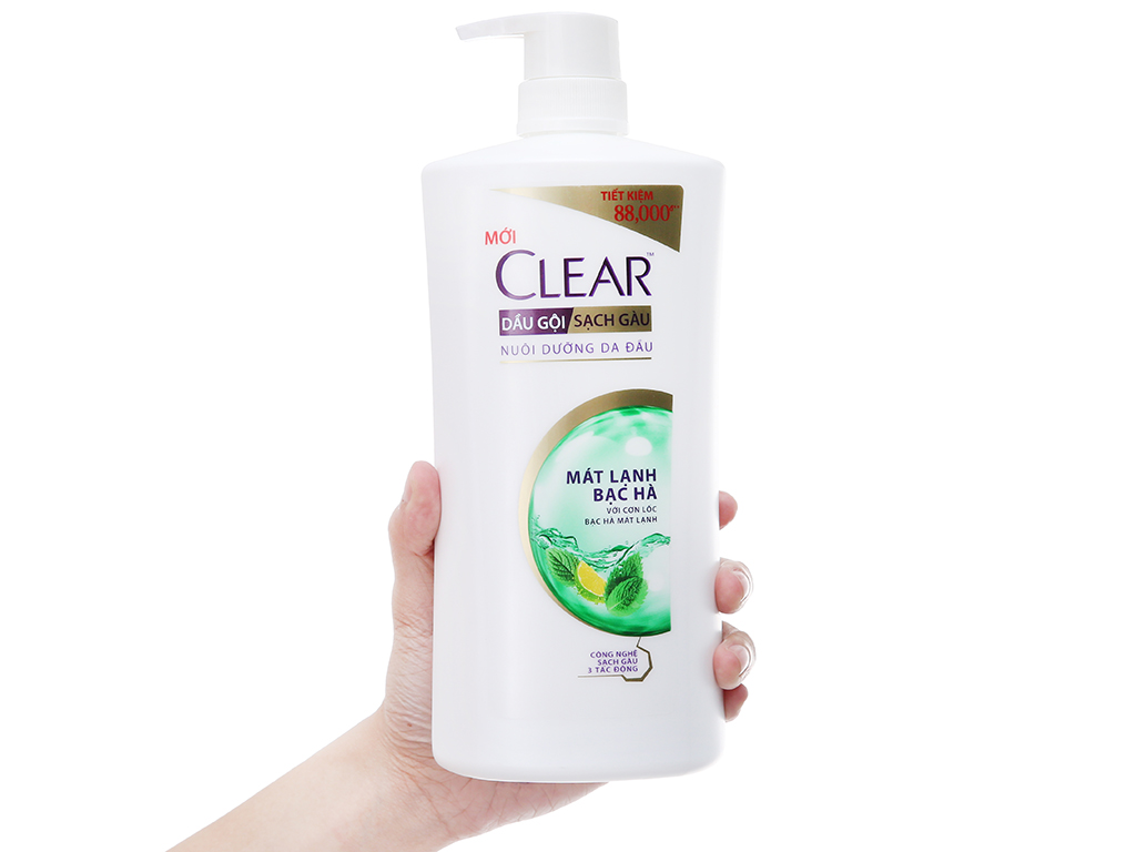 Dầu gội sạch gàu Clear mát lạnh bạc hà 874ml 4