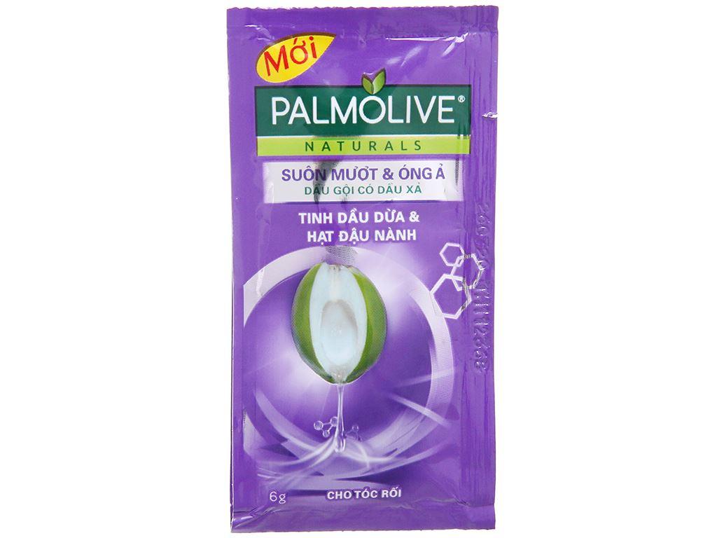 Dầu gội Palmolive suôn mượt óng ả dịu nhẹ 6g x 10 gói 1