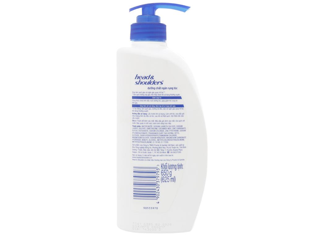 Dầu gội Head & Shoulders dưỡng chất ngăn rụng tóc dịu nhẹ 650g 2