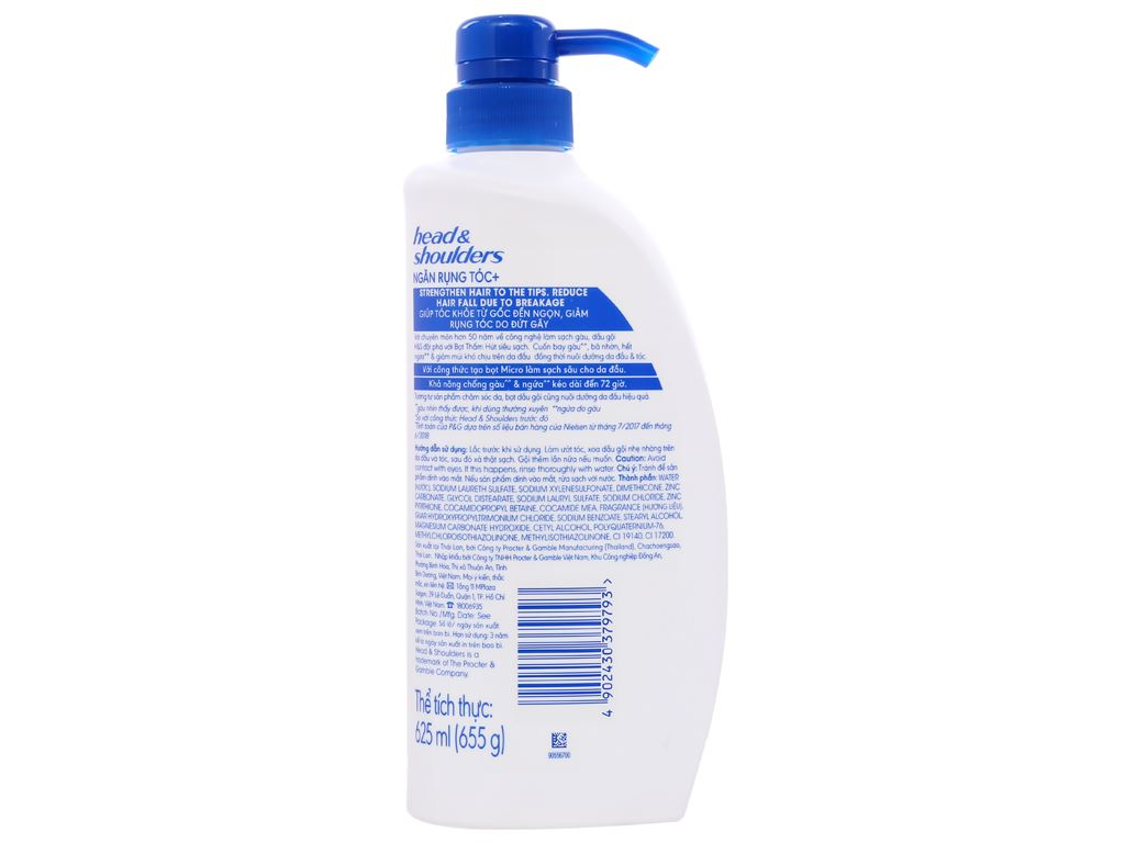 Dầu gội sạch gàu Head & Shoulders dưỡng chất ngăn rụng tóc 625ml 6