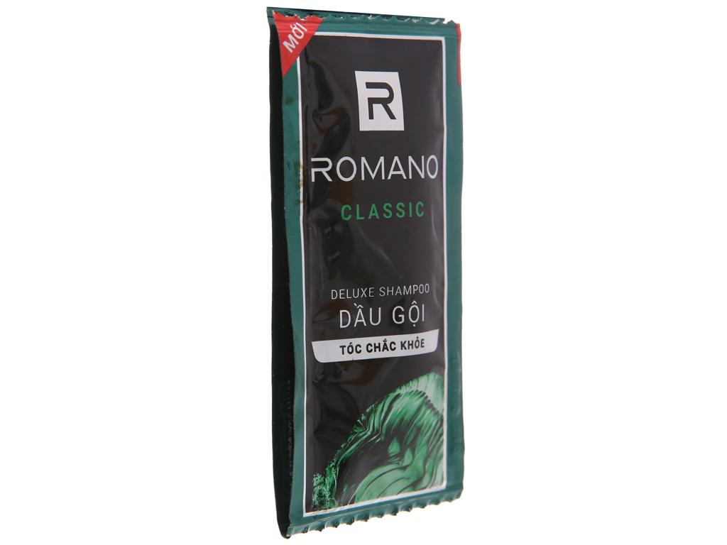 Dầu gội hương nước hoa Romano Classic tóc chắc khoẻ 5g x 12 gói 2