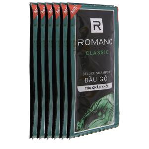 Dầu gội hương nước hoa Romano Classic tóc chắc khoẻ 5g x 12 gói