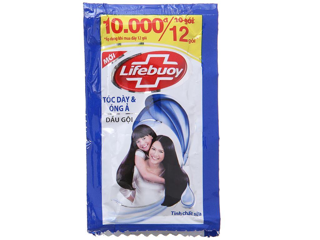 Dầu gội Lifebuoy tóc dày óng ả 6g x 12 gói 2