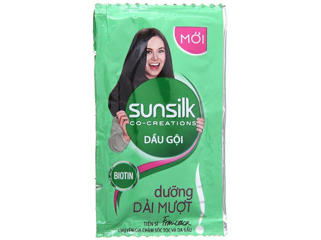 Dầu gội Sunsilk dưỡng dài mượt 5.8ml x 12 gói 2