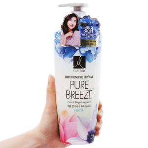 Kem xả nước hoa Elastine Pure Breeze óng mượt chắc khoẻ 600ml