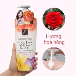 Kem xả nước hoa Elastine Kiss The Rose óng mượt chắc khoẻ 600ml