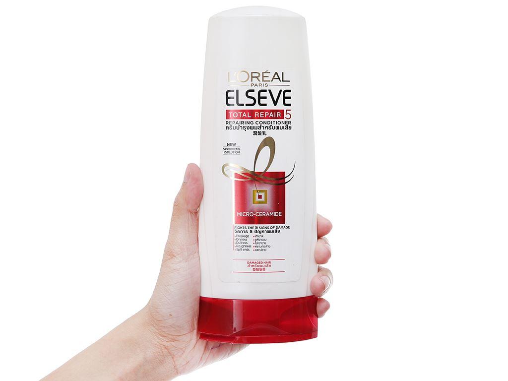 Dầu xả L'oreal Paris Elseve Total Repair 5 phục hồi tóc hư tổn chai 325ml 1