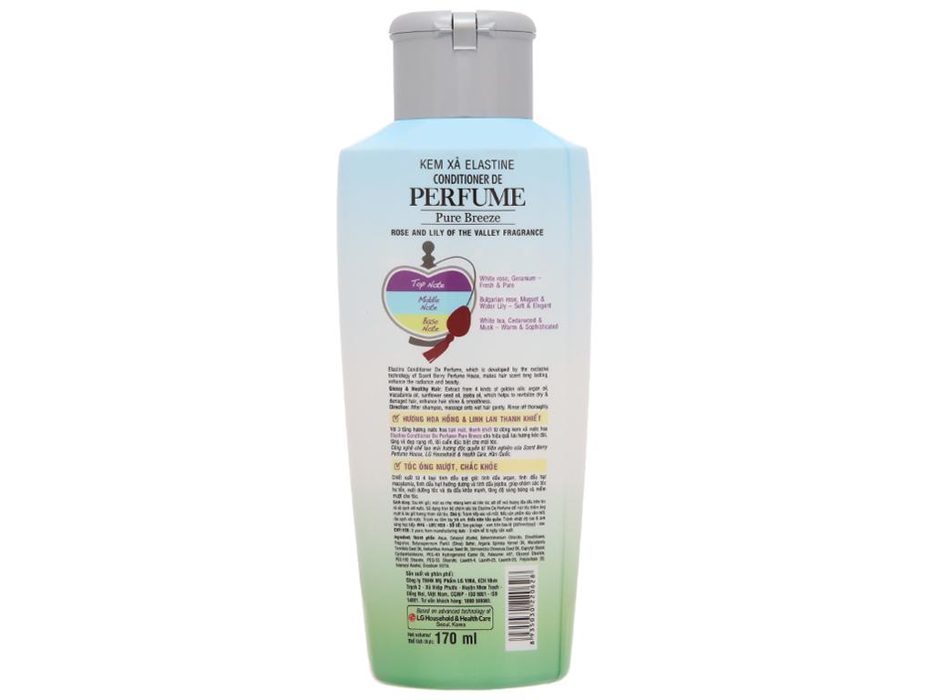 Kem xả nước hoa Elastine Pure Breeze óng mượt chắc khoẻ 170ml 3