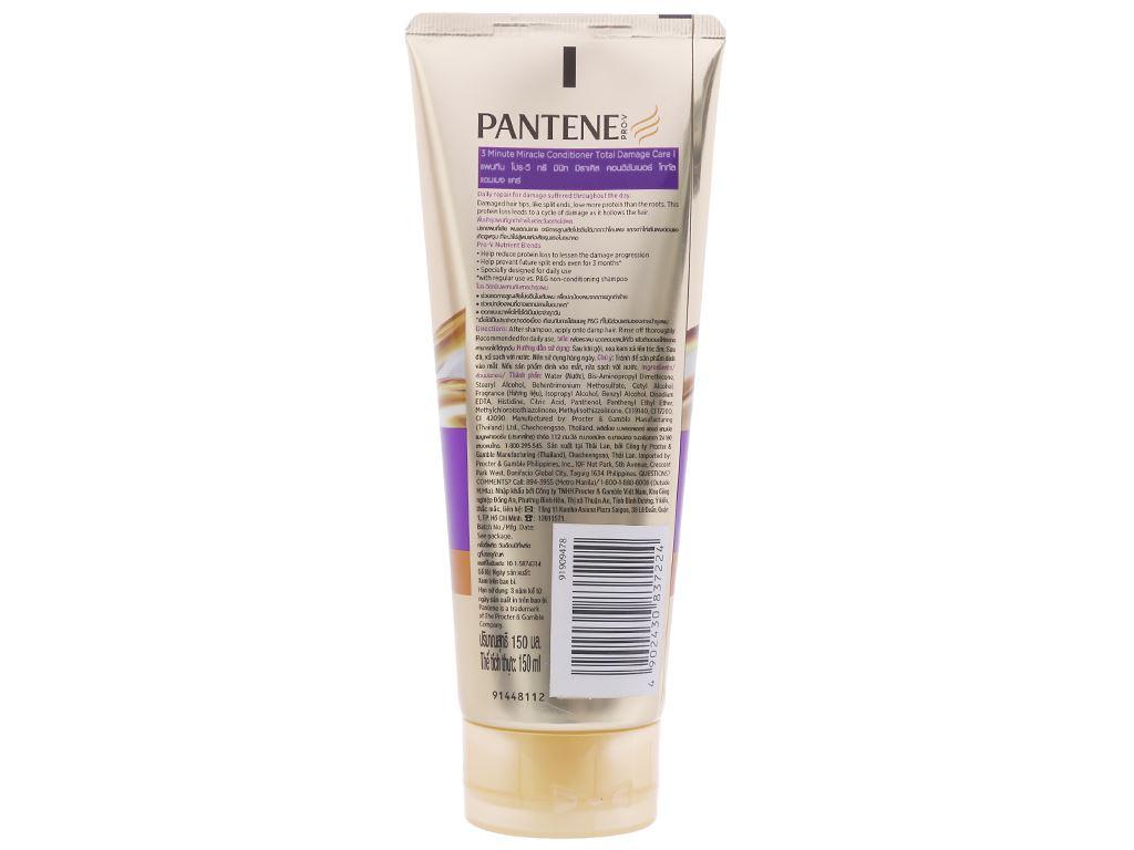 Kem xả Pantene 3 phút diệu kì dưỡng chất ngăn rụng tóc 150ml 2
