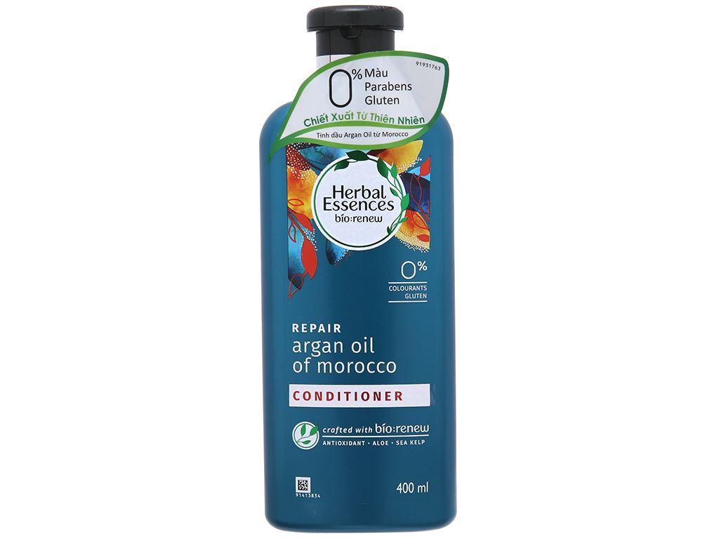 Dầu xả Herbal Essences tinh dầu Moroccan Argan 400ml 2