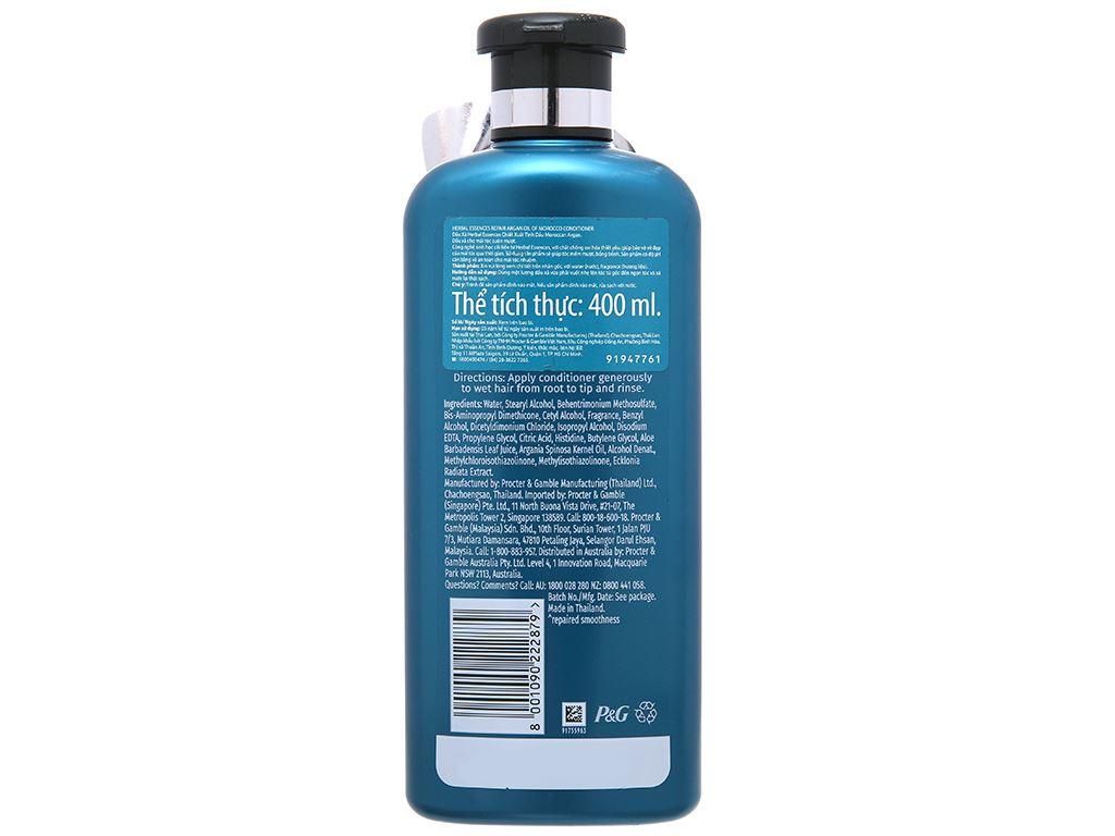 Dầu xả Herbal Essences chiết xuất tinh dầu moroccan argan 400ml 3