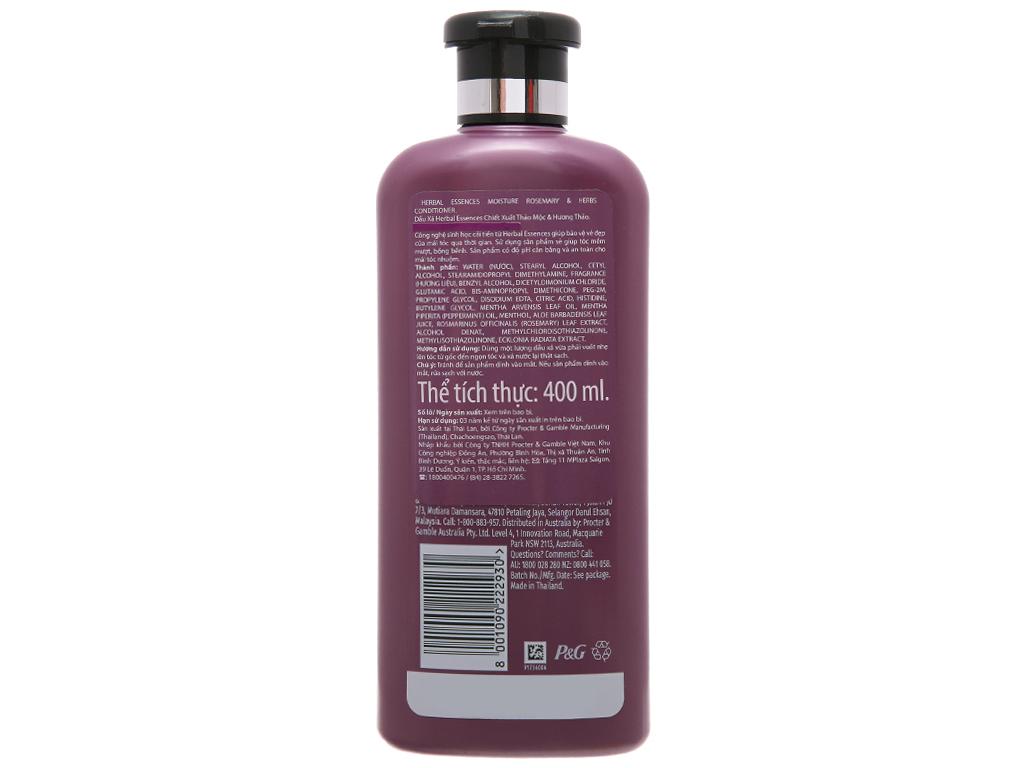 Dầu xả Herbal Essences thảo mộc và hương thảo 400ml 3