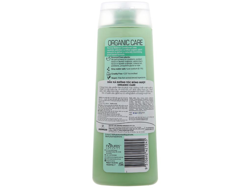 Dầu xả Organic Care dưỡng tóc bóng mượt 400ml 3