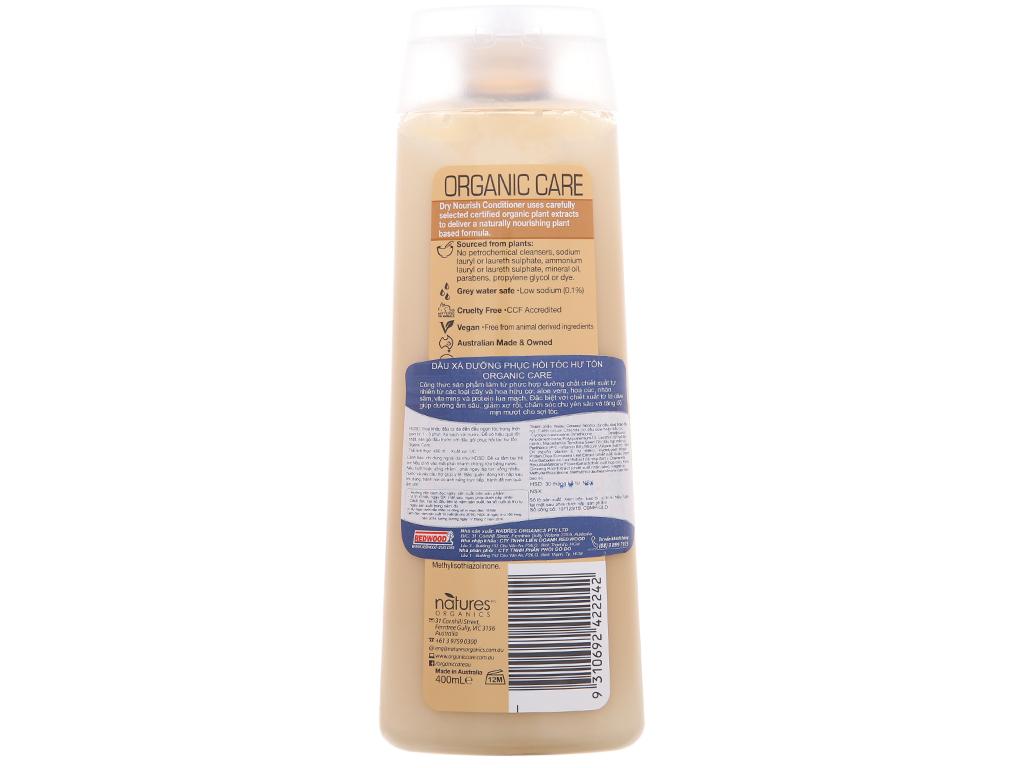 Dầu xả phục hồi hư tổn Organic Care Dry Nourish 400ml 3