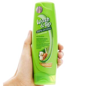 Dầu xả bơ hạt mỡ Wash&Go dành cho tóc hư tổn 180ml