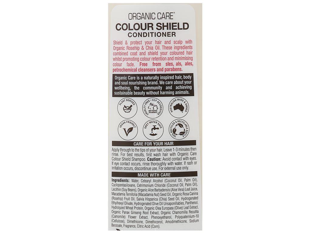 Dầu xả dành cho tóc nhuộm Organic Care Colour Shield 400ml 4