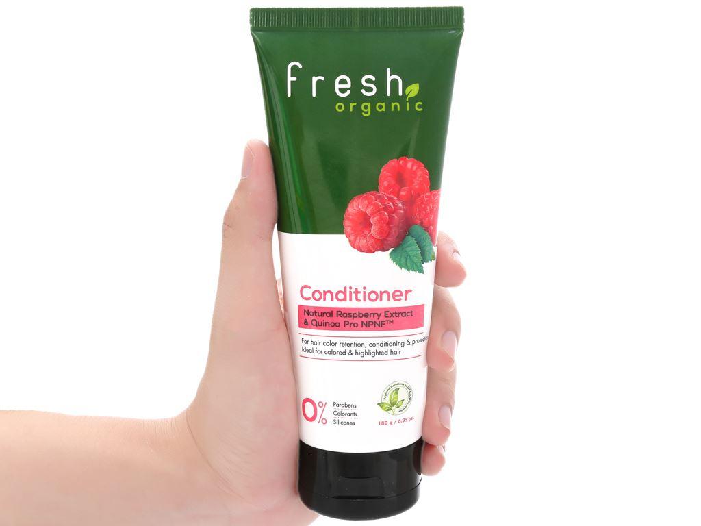 Dầu xả Fresh Organic giữ màu tóc nhuộm 180g 4
