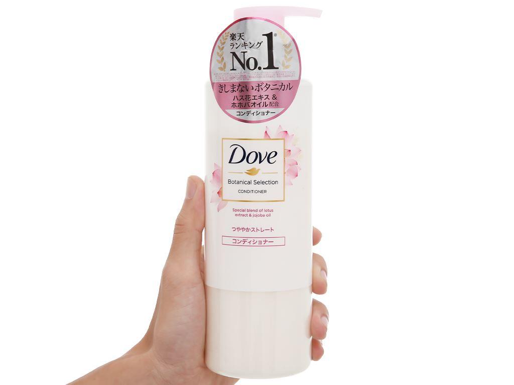 Kem xả Dove giúp tóc bóng mượt chiết xuất hoa sen và dầu jojoba 500g 4