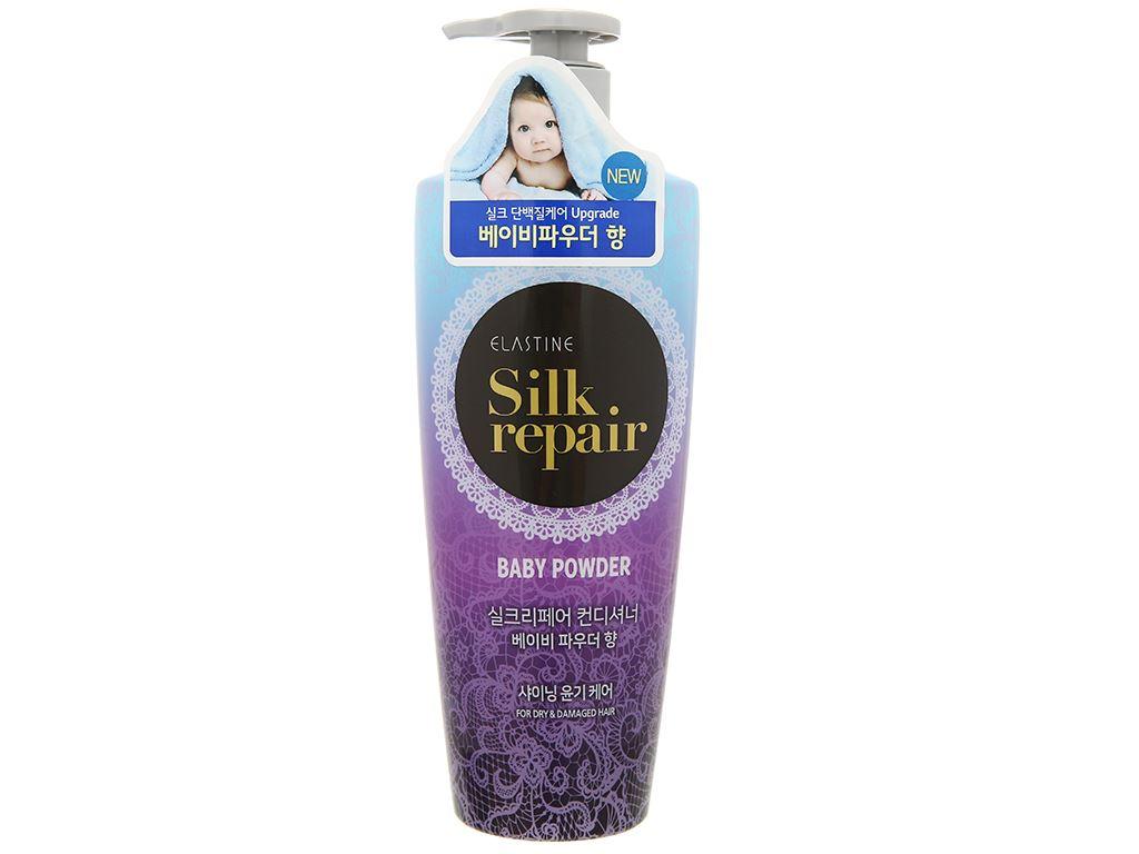 Kem xả Elastine Silk Repair hương phấn em bé 550ml 1