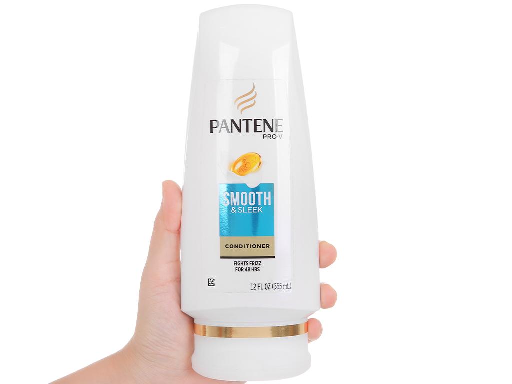 Dầu xả Pantene Pro-V Smooth & Sleek mềm mượt 335ml 5