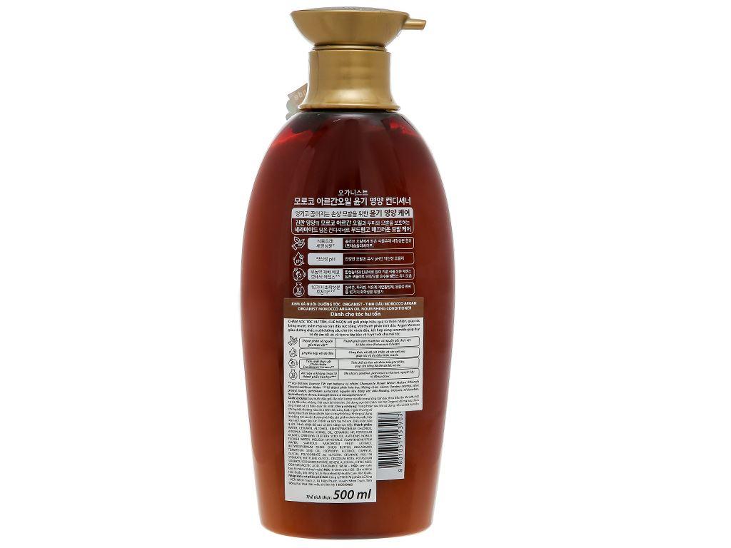 Kem xả Organist nuôi dưỡng tóc tinh dầu Morocco Argan 500ml 2