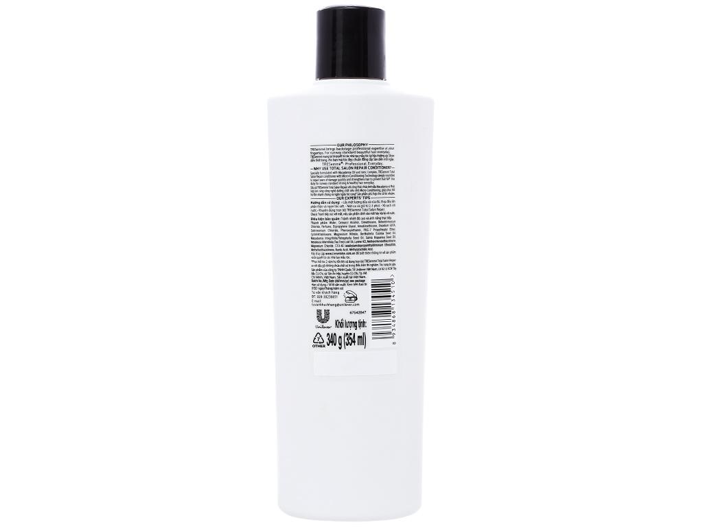 Dầu xả TRESemmé Total Salon Repair tinh dầu Macadamia 354ml 2