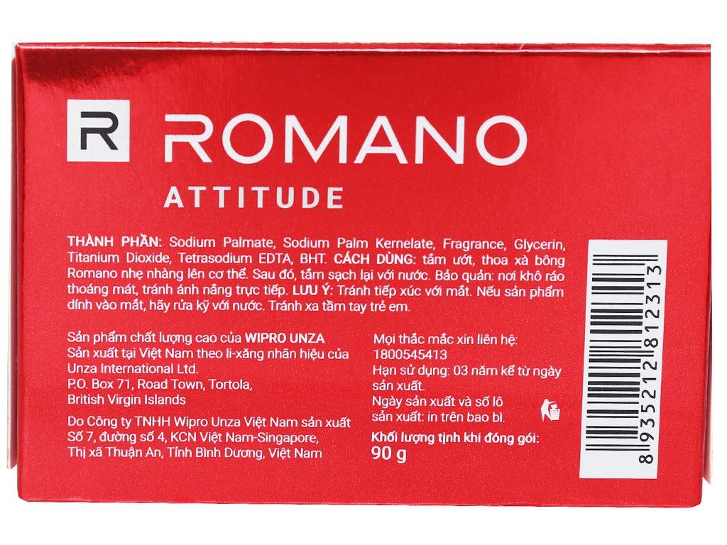 Xà bông thơm Romano Attitude sạch sảng khoái 90g 2