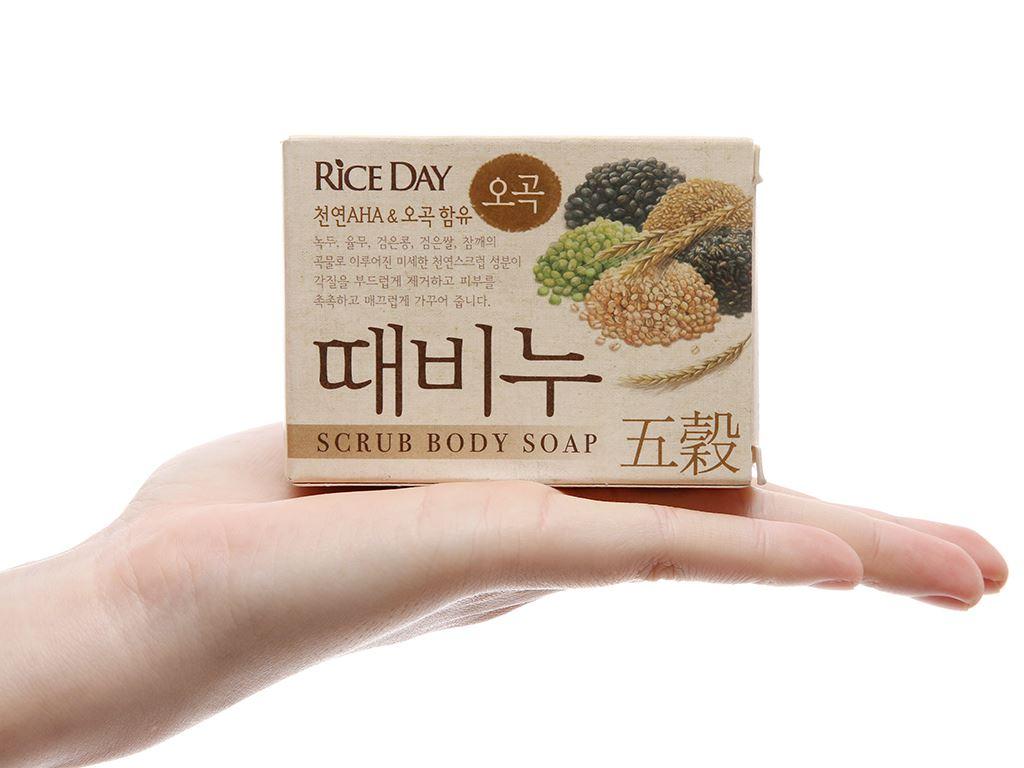 Xà bông tẩy da chết tinh chất ngũ cốc RICE DAY 100g 5