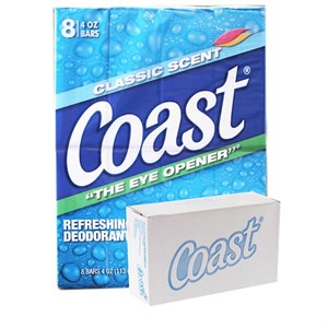 Xà bông cục Coast Classic Scent Refreshing Deodorant Soap lốc 8 x 113g