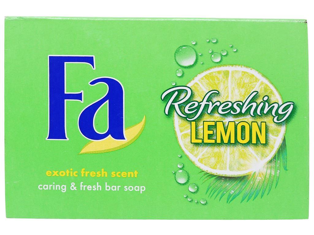 Xà bông cục FA Refreshing Lemon 90g 2