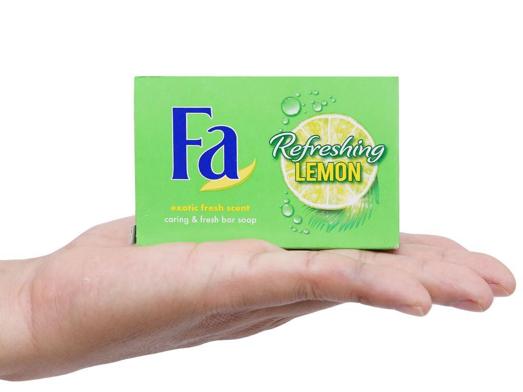 Xà bông cục FA Refreshing Lemon 90g 6