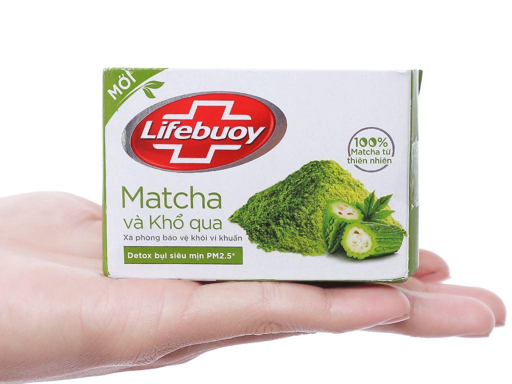 Xà phòng bảo vệ khỏi vi khuẩn Lifebuoy matcha và khổ qua 90g 3