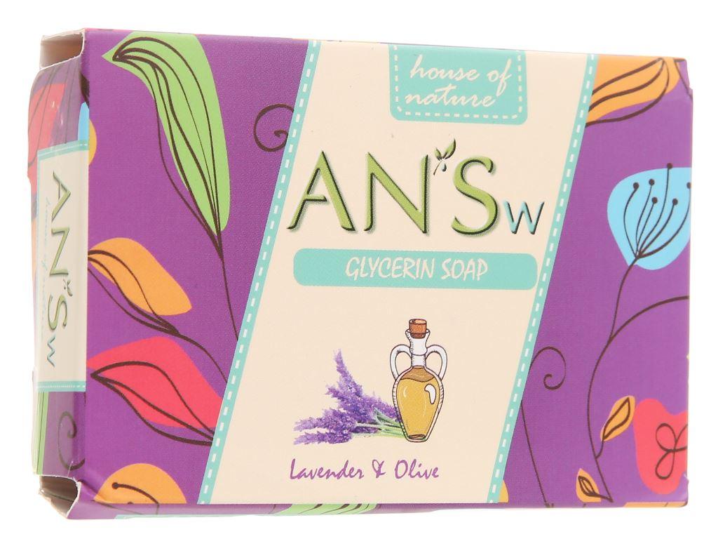 Xà bông cục ANSw tinh dầu lavender và olive 100g 4