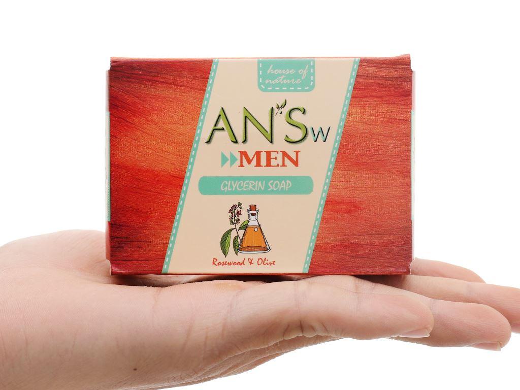 Xà bông cục ANSw tinh dầu gỗ hồng và olive 100g 1