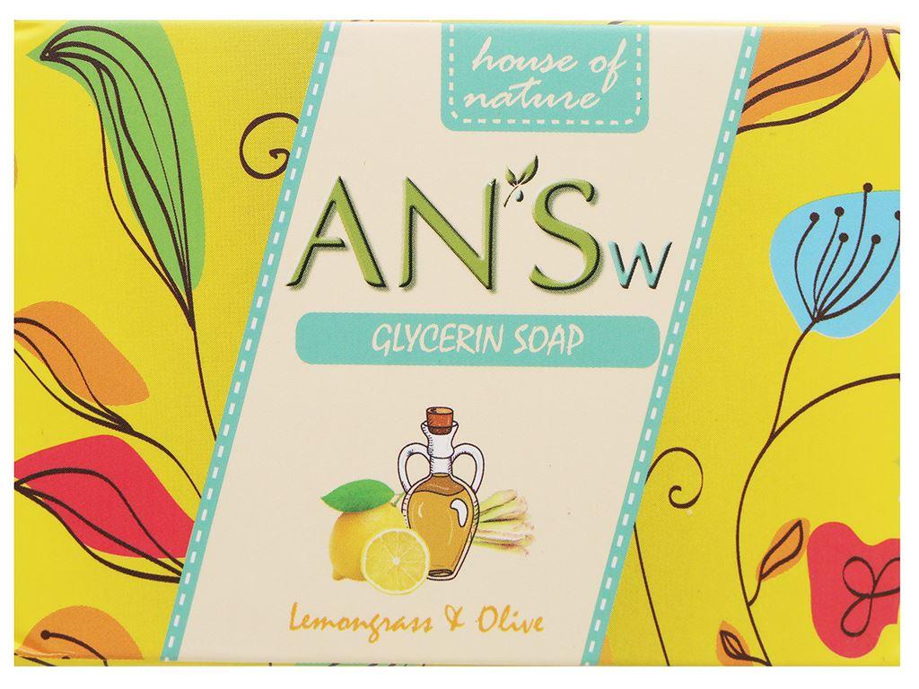 Xà bông cục ANSw tinh dầu sả chanh và olive 100g 1