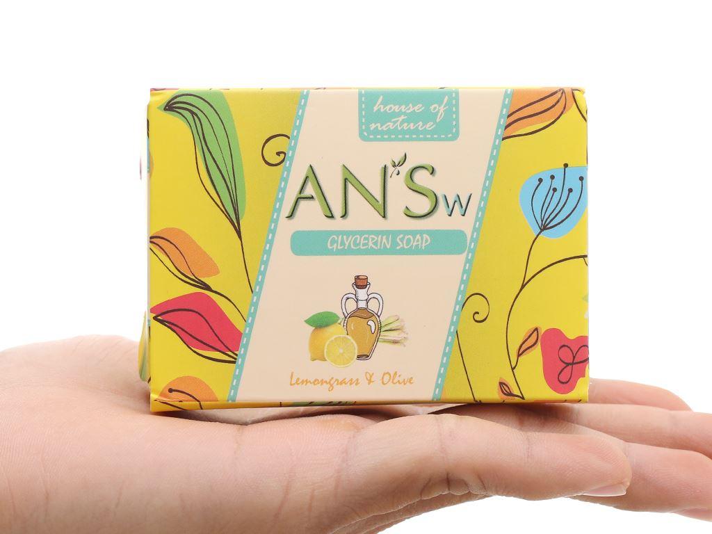 Xà bông cục ANSw tinh dầu sả chanh và olive 100g 2