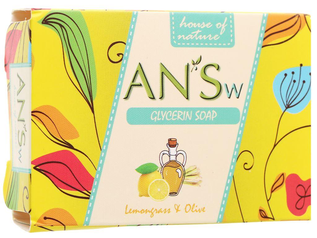 Xà bông cục ANSw tinh dầu sả chanh và olive 100g 4