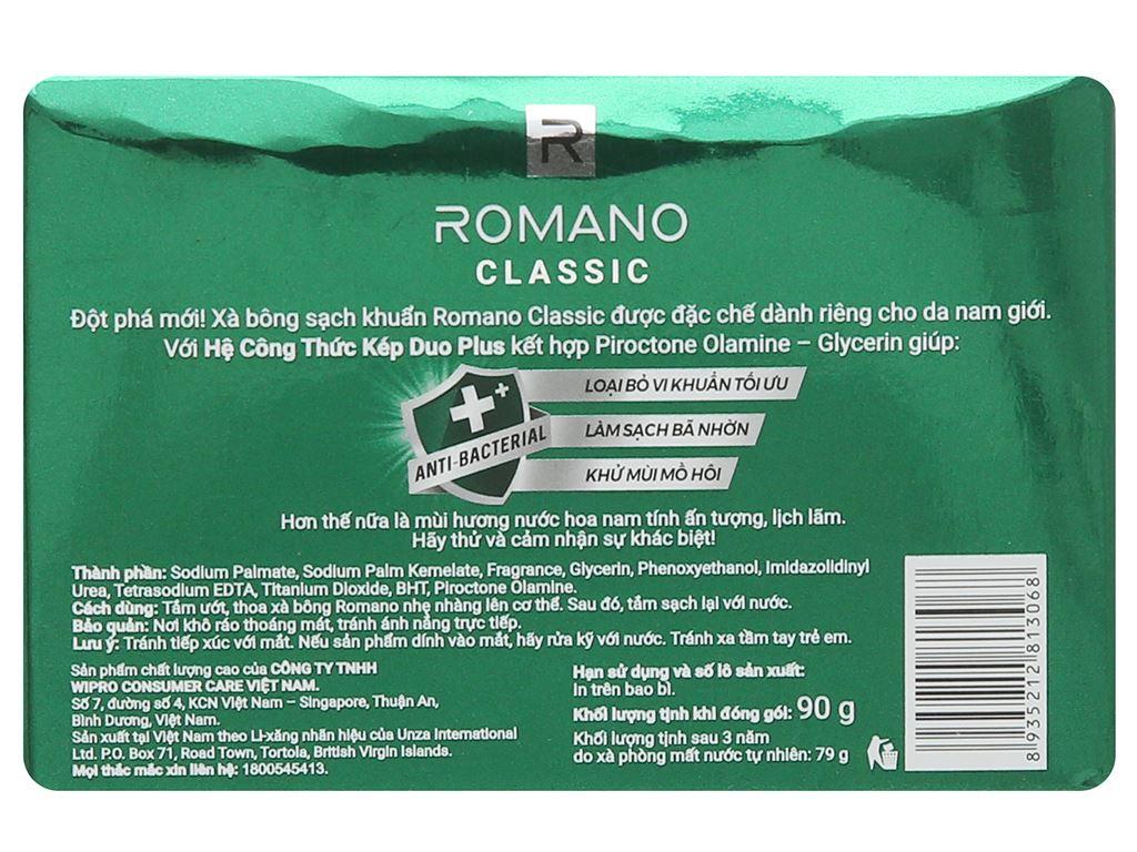 Xà bông sạch khuẩn Romano Classic 90g 2