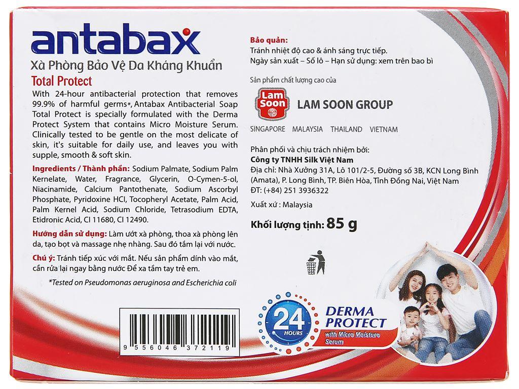 Xà phòng kháng khuẩn Antabax bảo vệ da 85g 2